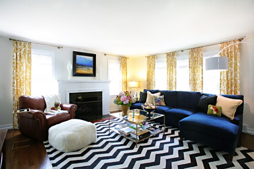 Good use of a bold rug