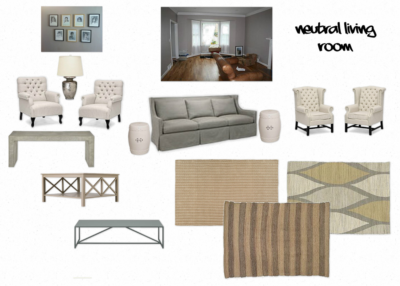 Neutral living room decor excellent living room neutral for Neutral family room ideas