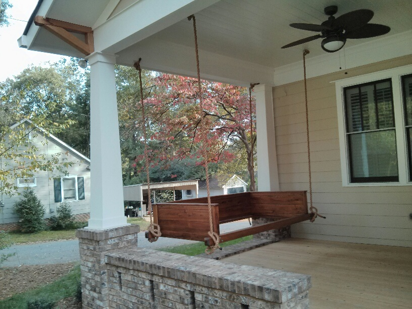 Front Porch swing fits a twin mattress