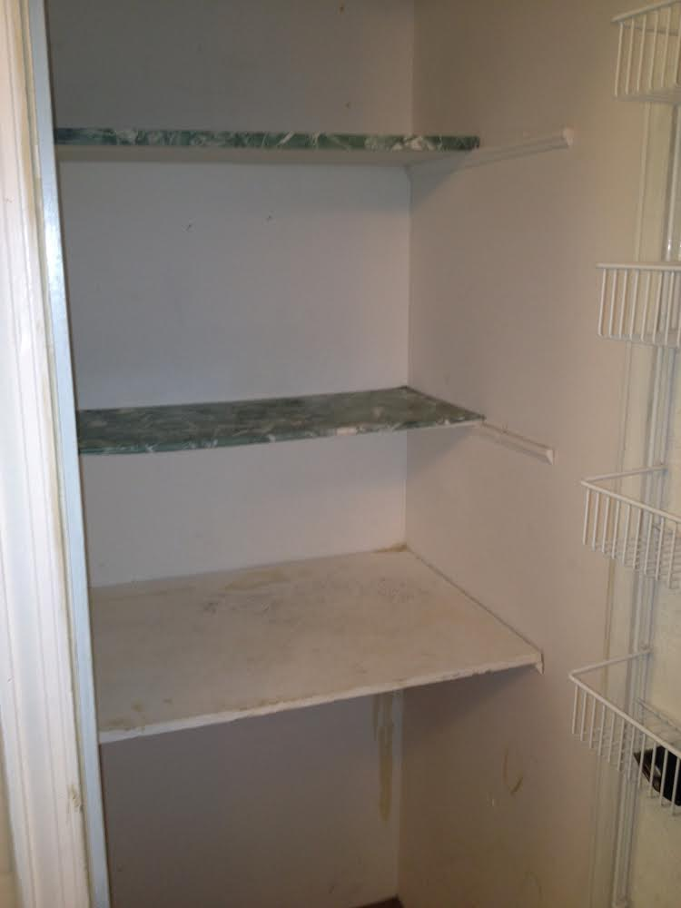Hannah Parker Home awful bathroom shelving storage before